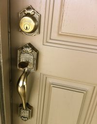 Front door handle and lock | House colours | Pinterest