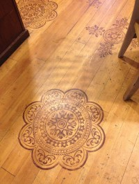 Wood floor stain designs | Home Sweet Home | Pinterest