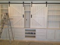 Entertainment center ... Love the barn door hardware | For ...