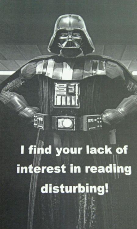#DarthVader #starwars #reading