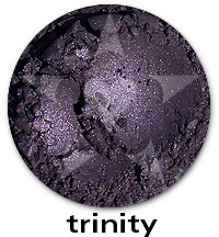 """Trinity"", from the Aromaleigh ""Pure Eyes Frost"" Eyeshadow Collection.    Trinity has a frost finish in a deep true smoky purple shade.    The ""Pure Eyes Frost"" collection is based on Aromaleigh v1's ""Pure Eyes Frost"" Collection, but with an expanded and improved color selection.    ""Trinity"" is similar to Aromaleigh v1 shades such as Amethyst and Drama Violet    http://www.aromaleigh.com/pueynafrmiey.html"