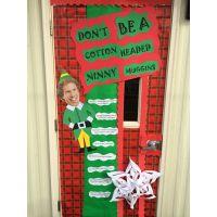 Door decorating contest elf | Angaleo | Pinterest