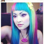 pin colorful-hair-creative-design-skipwallcom