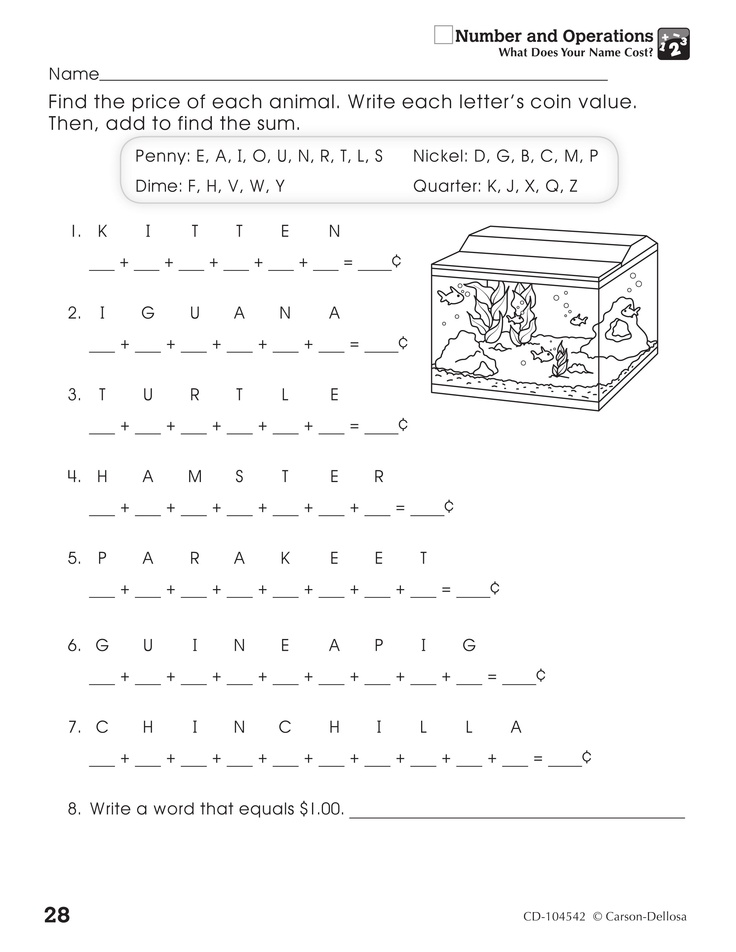 Carson Dellosa Math Worksheets Pictures to Pin on