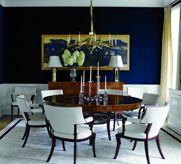 Navy white Dining Room  Home Design  Pinterest