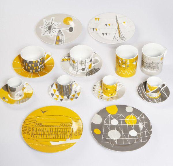 60s style porcelain