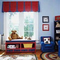 pleated valance for boys bedroom ideas   House: Window ...