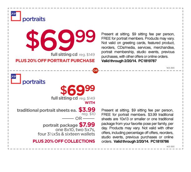 Jcpenney photo studio coupons