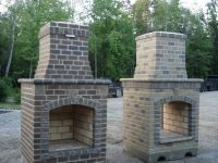 Building Outdoor Fireplace Brick | Fireplace | Pinterest