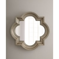 Silvery Quatrefoil Mirror | master bedroom | Pinterest