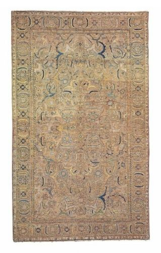 A silk and metal-thread 'Polonaise' rug, Isfahan, Central Persia, First quarter 17th century