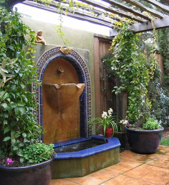My Ideas lanscape: Tuscan style backyard landscaping