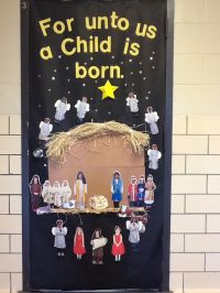Christian Christmas Classroom Door Decorations Photograph