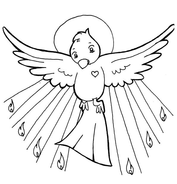 Holy Spirit Coloring Pages Coloring Pages