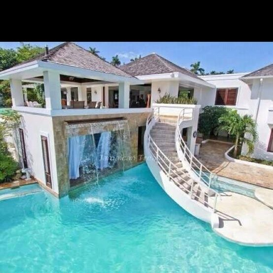 Cool pool and house  just add watercool pools  Pinterest