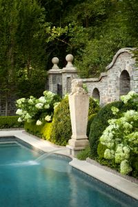 Modern Country Style: Hydrangeas, Topiary And Boxwood In ...