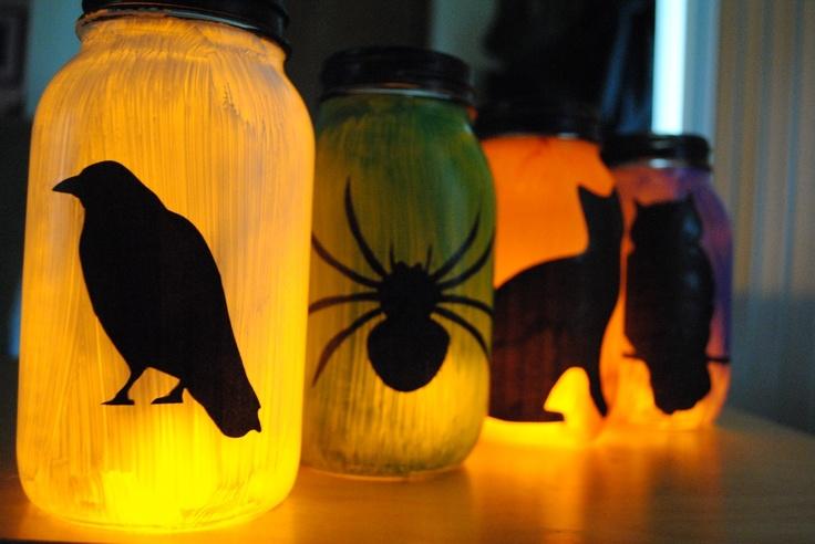 silhouette lanterns