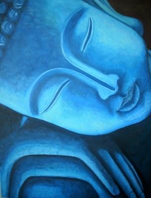 CurlyP Design - Das Bijuterias... às Telas: O meu Buda Azul... ou o Buda Radioactivo!
