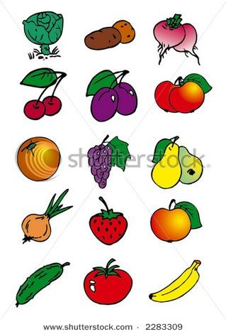 clip art fruit and vegetables