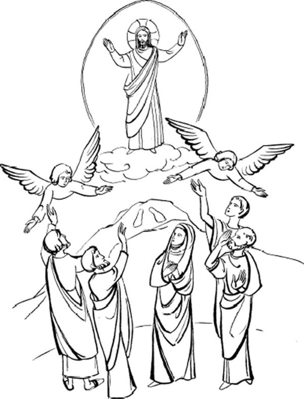 Free coloring pages of lent for children