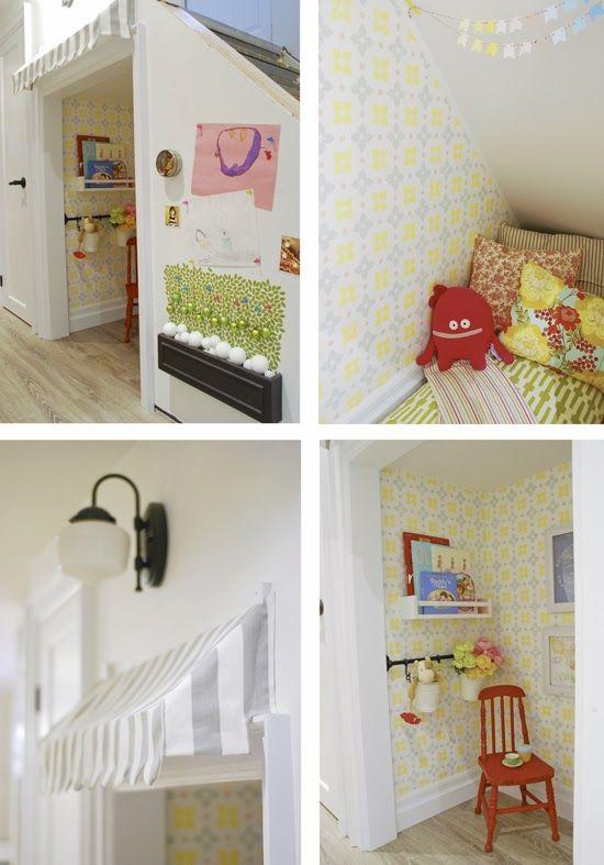 Rambling Renovators: House Tour #playhouse #underthestairs #nook