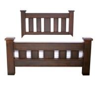 chunky dark wood bed frame   Master bedroom   Pinterest
