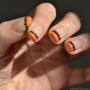halloween nail art - stitched french