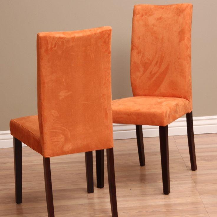 Warehouse of Tiffany Shino Orange Dining Chairs Set of 2