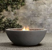 Lava Rock Natural Gas Fire Bowl | Backyard Ideas | Pinterest