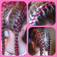 Braids with ribbons | Creative hair | Pinterest