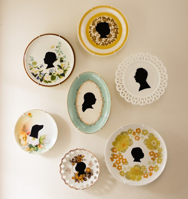 Simple DIY vintage silhouette plates! Cute!