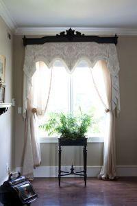 Victorian window treatment