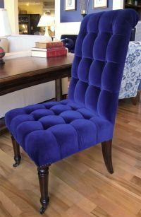 royal blue velvet desk chair | Haus | Pinterest