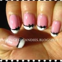 Bow Design On Nails