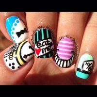 Alice in Wonderland nail art!!!!!!! | hair..makeup..nails ...