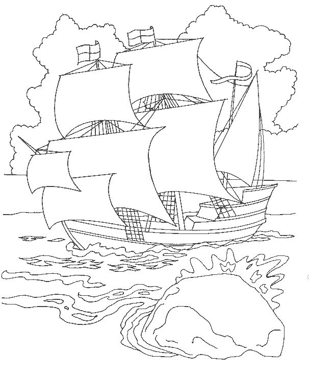 Plymouth Colony Coloring Page Coloring Pages