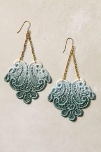 diy ombre lace earrings   jewelry   Pinterest