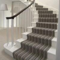 grey striped stairs carpet | Home Decor Ideas | Pinterest
