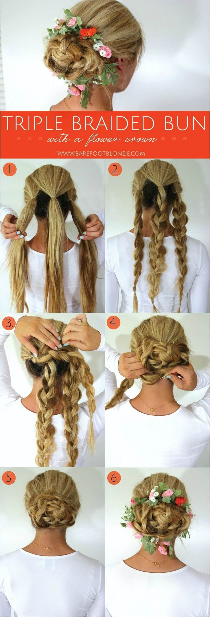 Pretty braided hairstyle ~ perfect for a bridal updo or for the flower girl.