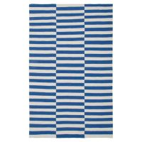 Blue and white stripe rug | Intriguing.Interiors | Pinterest