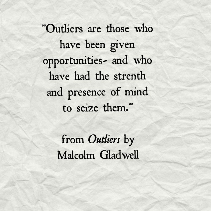Quotes From Outliers. QuotesGram