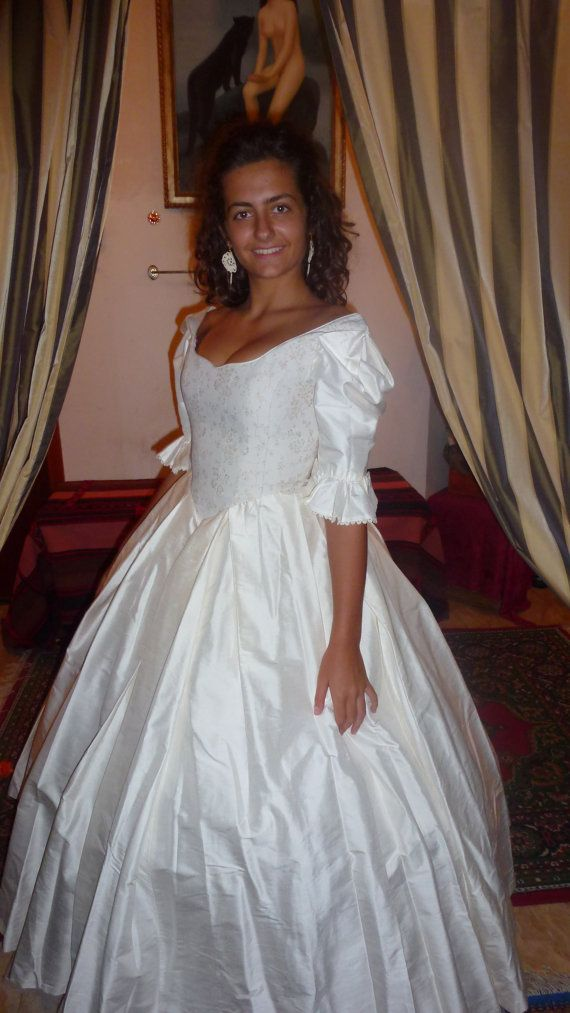 Laura Ashley silk wedding dress