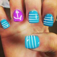 Anchor nails :) | Nail Art | Pinterest