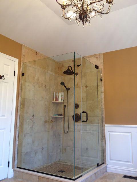 Wonderful standing shower design. #bathroom #