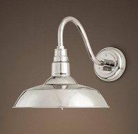 Vintage Barn Sconce Polished Nickel | Lights | Pinterest
