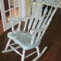 Annie sloan chalk paint going to redo my rocking chair