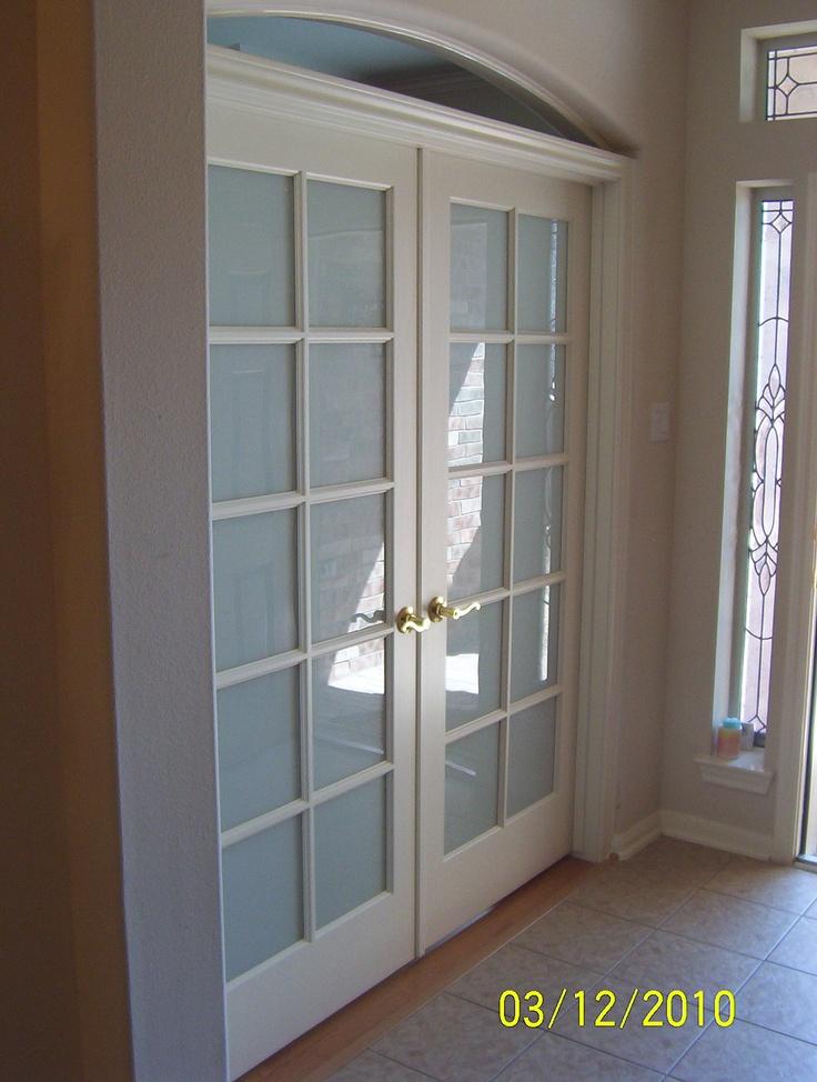 Master bedroom french doors