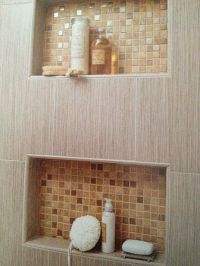 Bathroom Shower Shelves : Creative Gray Bathroom Shower ...