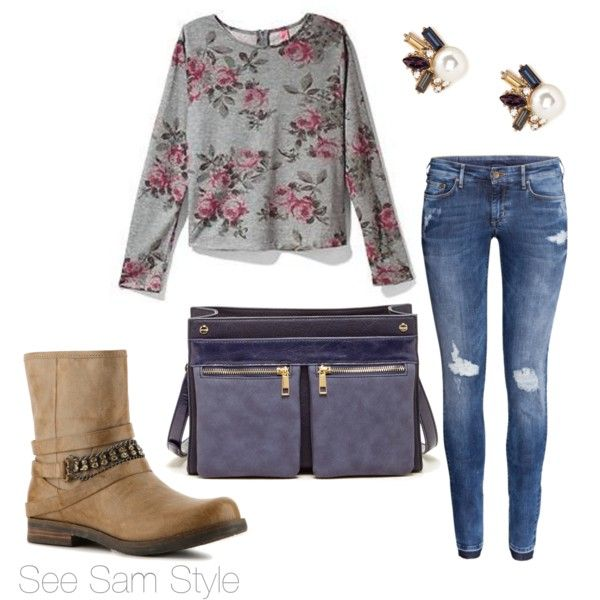 """""""Rose Sweater and Booties"""" by serdarsa on Polyvore"""