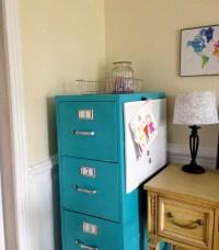 Spray paint file cabinet | school stuff | Pinterest